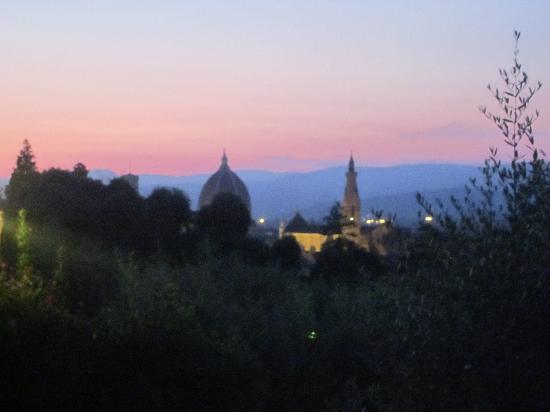 Camping Michelangelo: Sonnenuntergang von der Terasse