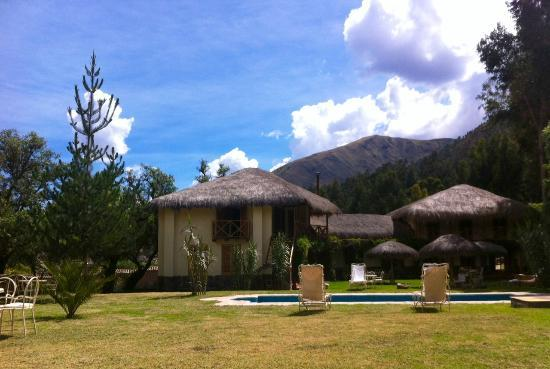Ninos Hacienda: view from the garden-pool area