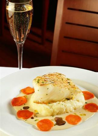 Ocean Prime: Chilean Sea Bass, Whipped Potatoes, Champagne Truffle Sauce