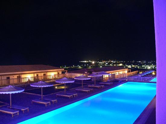 ‪‪Mitsis Blue Domes Resort & Spa‬: View from the room in the top house at night‬