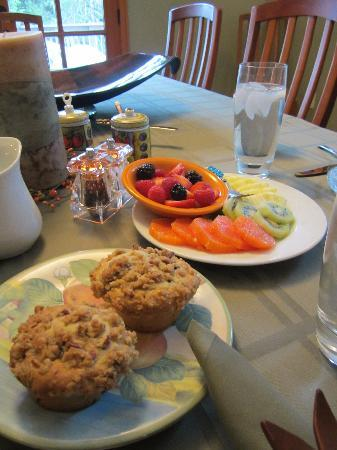 Hidden Creek Bed and Breakfast: breakast wow!