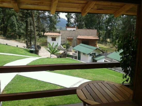 Cabanas El Estribo Hotel: vista desde la cabaña petite!!