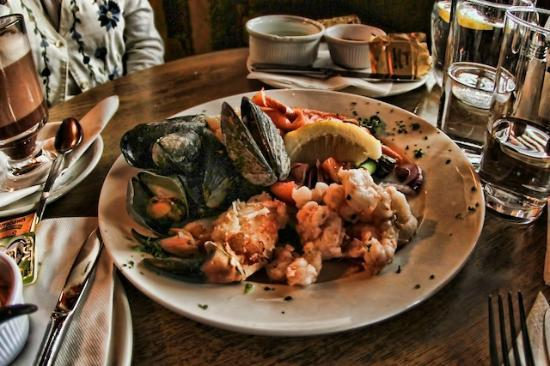The Helm Restaurant: Seafood platter, with Clew Bay Mussels, Lobster, Shrimp