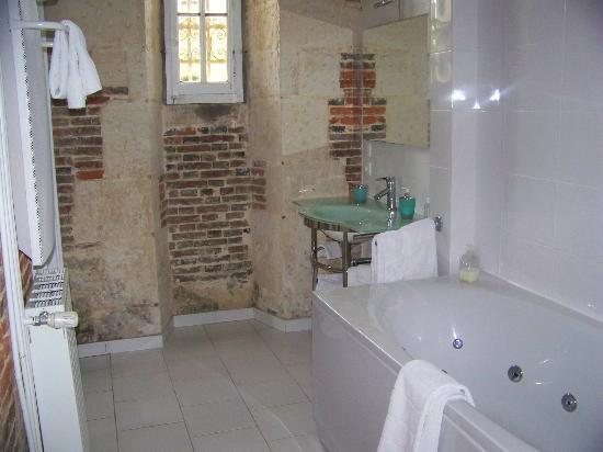 Domaine de la Rue: Bathroom (very clean!) of Vienne room