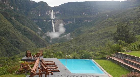 Gocta Andes Lodge: vista de la terraza