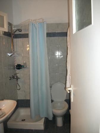 Nissos Thira Hotel: Small Bathroom stall