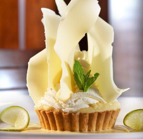 Mitchell's Ocean Club: White Chocolate Key Lime Tart