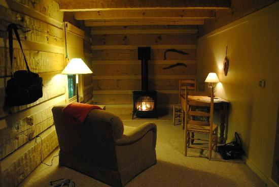 Savage River Lodge: Great place to cozy up by the fire :)