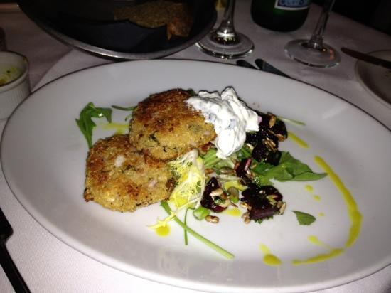 Sweet Melinda's: Quinoa herb & feta cakes with toasted seeds, roasted beetroot and soured yoghurt - fabulous!