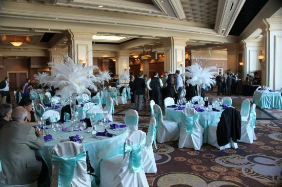 Mandalay Bay Wedding Chapels: Our reception in the Palm Foyer, done by Mandalay Bay Catering