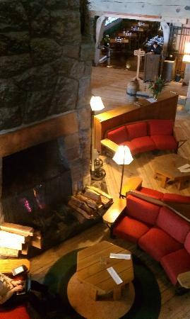 Hood River, OR: Fireplace in Timberline Lodge