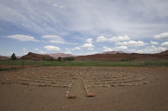 Sorrel River Ranch Resort: labyrinth on the ground