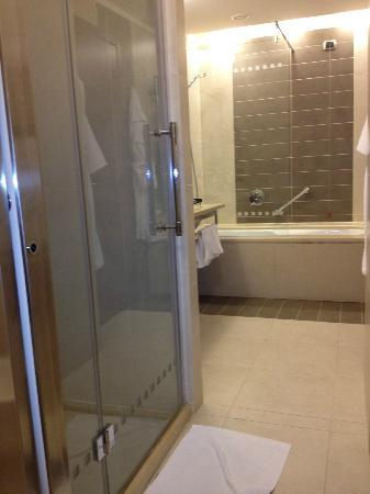 BEST WESTERN PREMIER BHR Treviso Hotel: bathroom with bath and shower