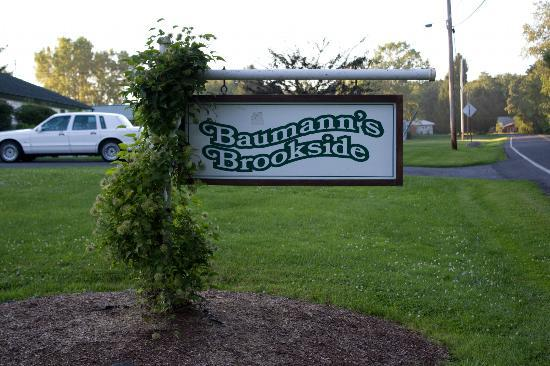 Baumann's Brookside: Location main sign