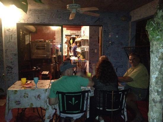 Pizza John's Jardin Escondido: 2nd night in the jungle
