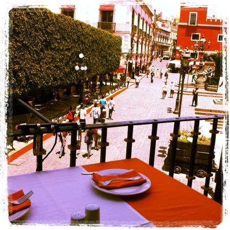 Vista el jard n juarez desde el balc n picture of la for 7 jardines guanajuato