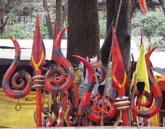 Mahadeo Temple: Trident(Trishul) of Lord Shiva