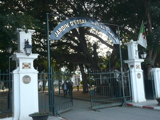 Le Jardin d'Essai du Hamma: Entry to Le Jardin d'Eassai du Hamma, Algiers, Algeria