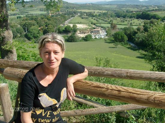 Saturnia, Italia: vista panoramica cascate