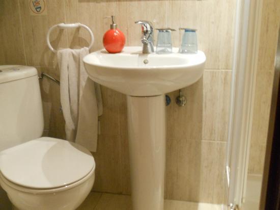 Hostal Nuevas Naciones : toilet