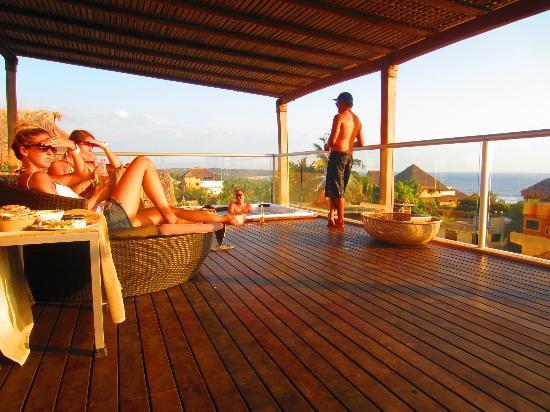 Hotel Aqua Luna: Room top jacuzzi area