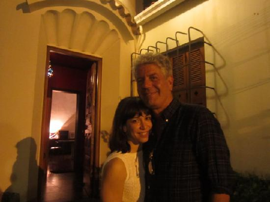 Anthony Bourdain and his wife at Casa Beleza