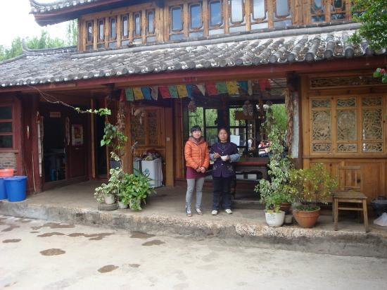Tour around Yunnan Province: Rosey and her mother at their Country Rd Cafe, Baisha