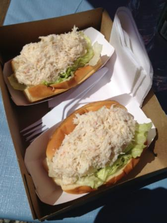 """Larson's Lunch Box: Crab Roll at """"the BOX"""" over flowing with crab meat"""