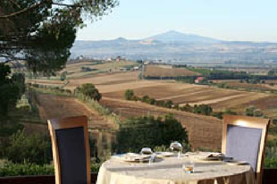 Relais Villa Petrischio: vista dal ristorante - view fro the restaurat