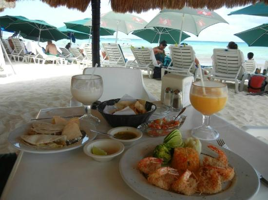 Playa Maya : Coconut shrimp, fish tacos & cocktails...some of the best you will have in PDC!