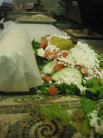 Alexander's Greek Cuisine: Gyro & Salad Platter