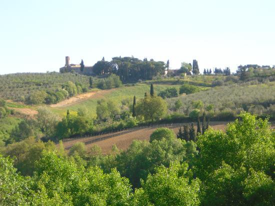 Agriturismo Poggiacolle: View from Poggiacolle to Sam Gimignano