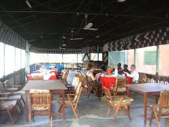 Reserve de Nazinga : La salle de restaurant