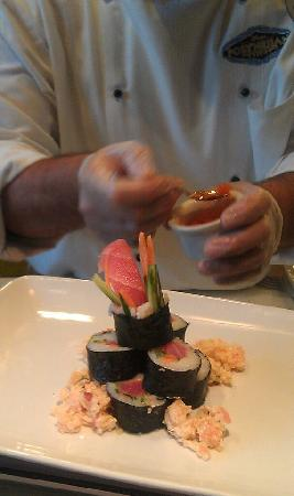 Josh at the Kona Cafe Sushi bar will make you a masterpiece