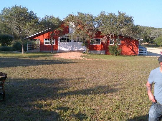 The Red Corral Ranch: Main red barn for functions. Just up the slope from the main grounds.