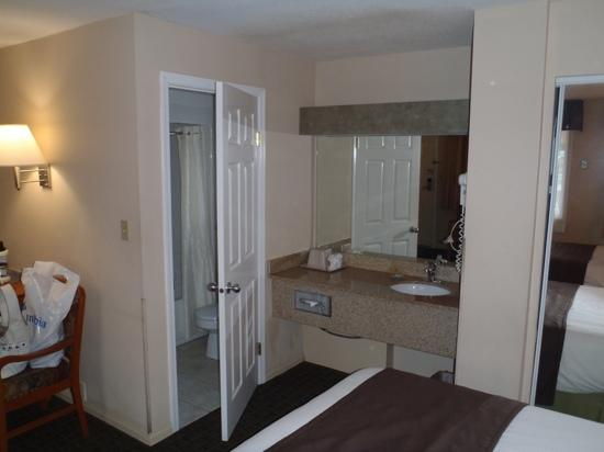 BEST WESTERN Capilano Inn & Suites: Double room - Half bathroom in the bedroom?!