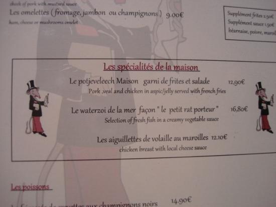 """Le Petit Rat Porteur: les spécialités """"maison"""""""