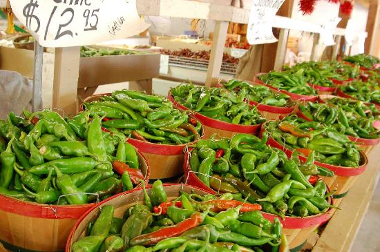 Rio Rancho, NM: Green chile, a New Mexican favorite, is locally grown.