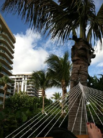 Solara Surfside Resort: relaxing in hammock