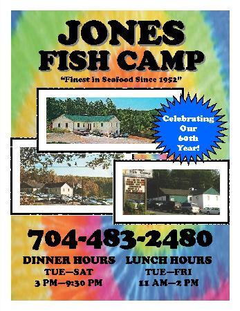 Jones fish camp maiden menu prices restaurant for Fish camp menu