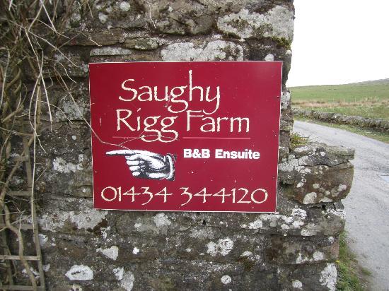 Saughy Rigg Farm: pronounced 'Sauffy'