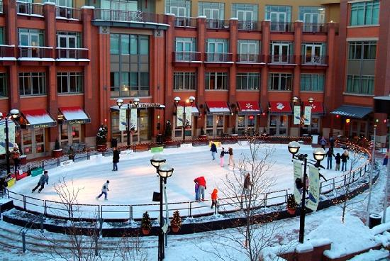One Boulder Plaza ice rink. Photo credit: Downtown Boulder Inc.