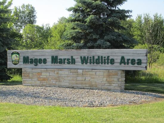 Magee Marsh Wildlife Area: entrance to Magee
