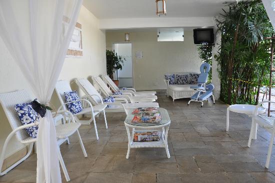 Ubatuba Palace Hotel: El sector de mansajes