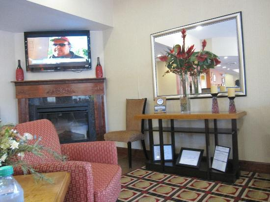 Comfort Suites Golden Isles Gateway Brunswick: Lobby Lounge next to registration desk