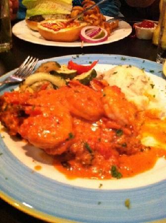 Sweet Tea's : pan seared catfish topped with sauté shrimp with a vodka sauce..