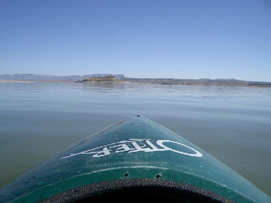 kayaking on Elephant Butte Lake
