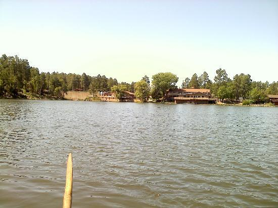 Lake of the Woods Resort: Aspens / Oaks cabin on left and Shores is on Right