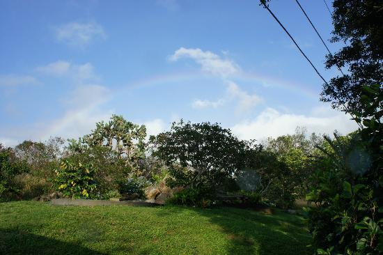 Puakea Ranch: A rainbow greeted us when pulled up to Miles Away for the first time - first of many.