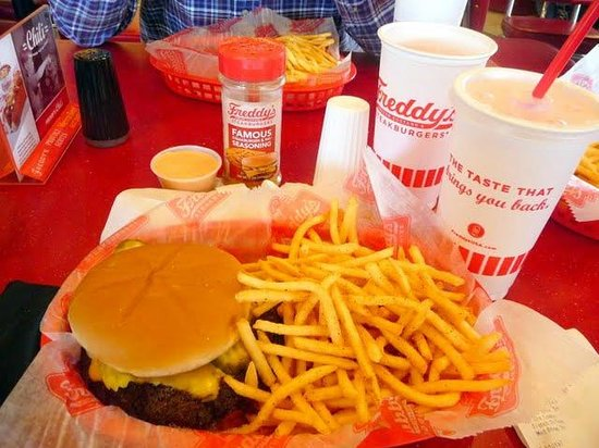 Freddy's Frozen Custard & Steakburgers: Generous serving of fries with their burgers... get the sauce!